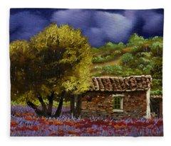 Lavanda Sotto Il Cielo Blu Fleece Blanket