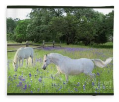 Lavender Pastures Fleece Blanket
