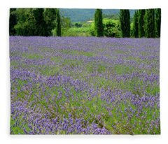 Lavender And Cypress Fleece Blanket
