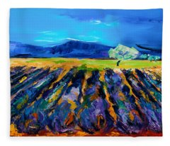 Lavender Field Fleece Blanket