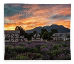 Lavender Fields Fleece Blanket