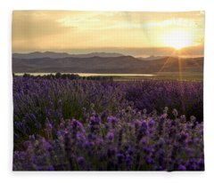 Lavender Glow Fleece Blanket