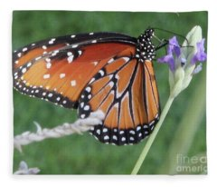 Lavender Lunch Fleece Blanket