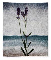 Lavender Ocean Breath Fleece Blanket
