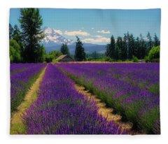 Lavender Valley Farm Fleece Blanket