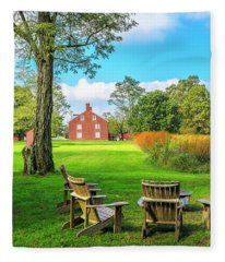 Adirondack Chair Viewing Fleece Blanket