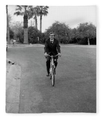 Lawyer On A Bicycle, 1971 Fleece Blanket