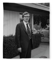Lawyer With Can Of Tab, 1971 Fleece Blanket