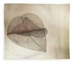 Layered Leaf Skeleton Fleece Blanket
