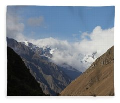 Layers Of Mountains Fleece Blanket