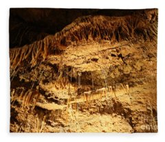 Layers Of Time - Cave Fleece Blanket