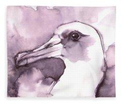 Laysan Albatross Fleece Blanket