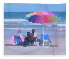 Lazy Day At The Beach Fleece Blanket