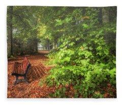 The Abbey's Bench Fleece Blanket