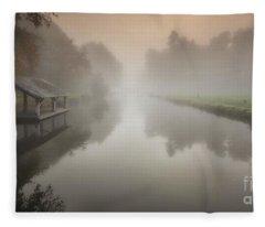 The Sleeping Channel Fleece Blanket