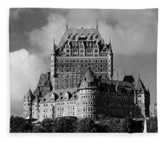 Le Chateau Frontenac - Quebec City Fleece Blanket