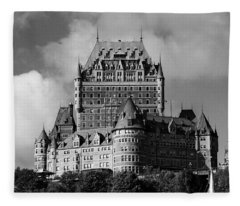 Le Chateau Frontenac - Quebec City Fleece Blanket