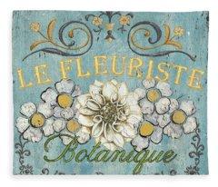 Garden Flowers Fleece Blankets