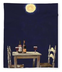 Le Ombre Della Luna Fleece Blanket