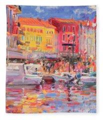 Le Port De St Tropez Fleece Blanket