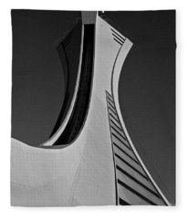 Le Stade Olympique De Montreal Fleece Blanket