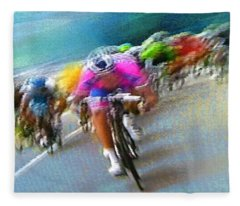 Le Tour De France 09 Fleece Blanket