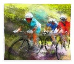 Le Tour De France 11 Fleece Blanket