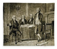 Leaders Of The First Continental Congress Fleece Blanket