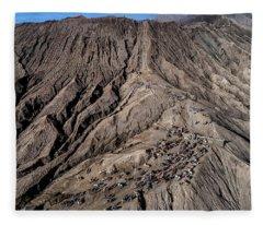 Leading To The Volcano Crater Fleece Blanket