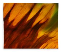 Leaf 2 Fleece Blanket