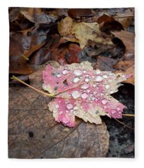 Leaf Bling Fleece Blanket