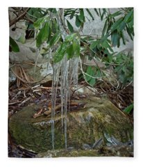 Leaf Drippings Fleece Blanket