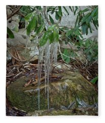 Leaf Drippings Fleece Blanket