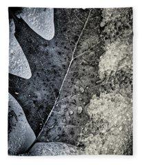 Leaf On Ice Fleece Blanket