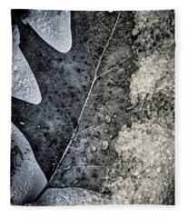 Leaf On Ice Fleece Blanket