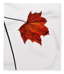 Leaf Fleece Blanket