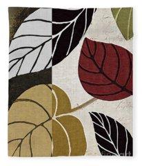 Leaf Story Fleece Blanket