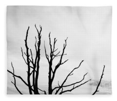 Leafless Tree Fleece Blanket