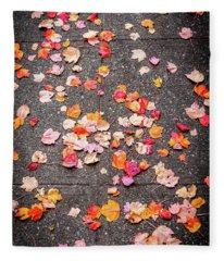 Leafy Autumn Walk Fleece Blanket
