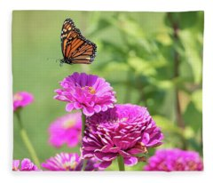 Leaping Butterfly Fleece Blanket