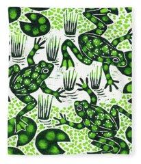 Leaping Frogs Fleece Blanket