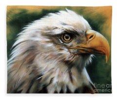 Leather Eagle Fleece Blanket