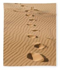Leave Only Footprints Fleece Blanket