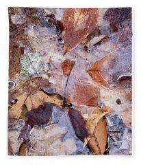 Leaves Abstract  Fleece Blanket