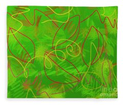 Leaves And Grass Fleece Blanket