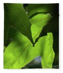 Leaves Fleece Blanket