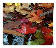 Leaves Of Color Fleece Blanket