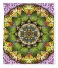 Leaves Of Glass Fleece Blanket