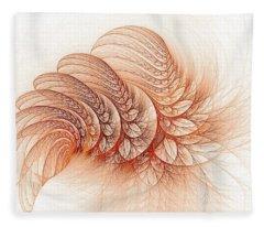 Leaves Of The Fractal Ether-2 Fleece Blanket