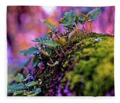 Leaves On A Log Fleece Blanket
